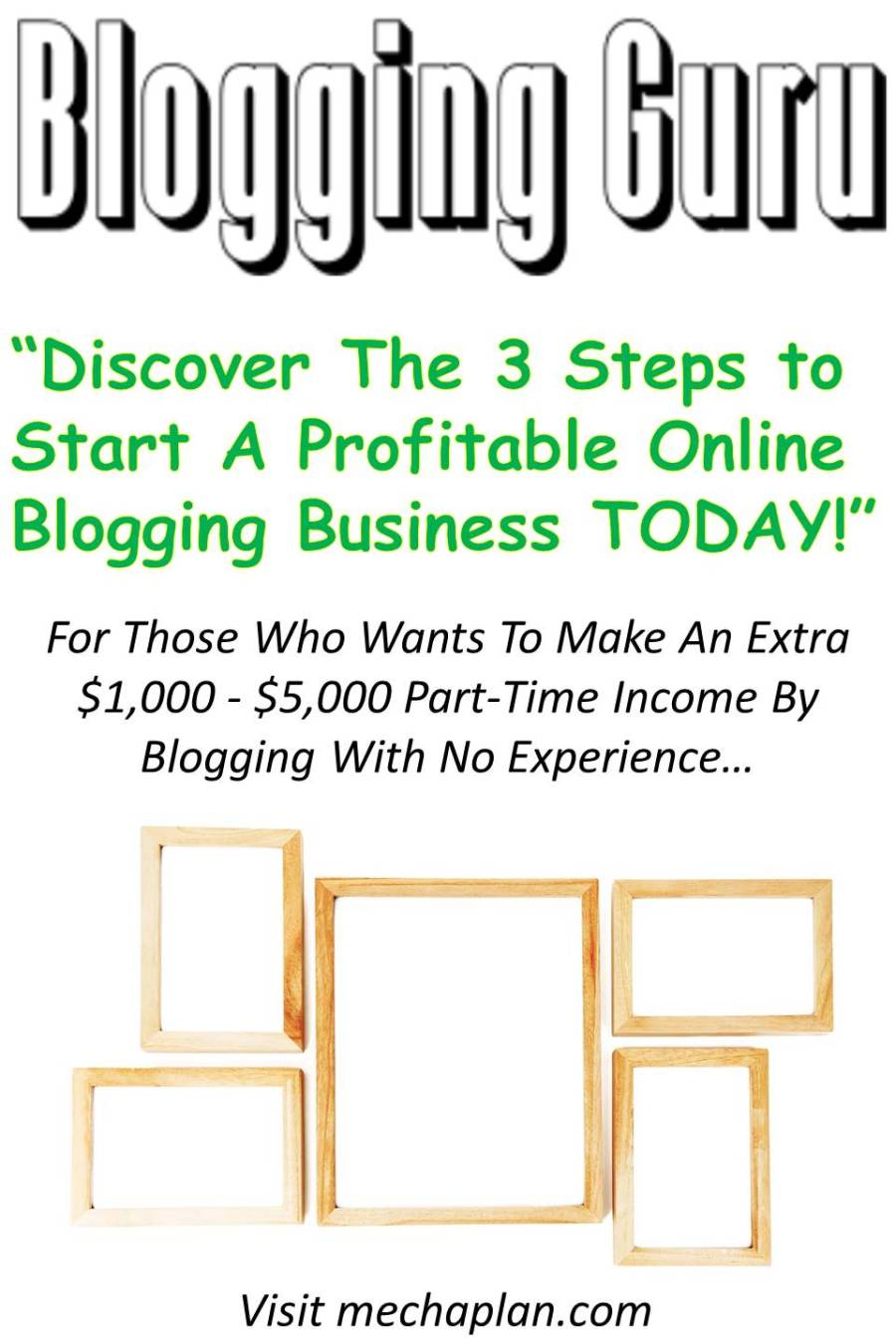 Discover The 3 Steps to Start A Profitable Online Blogging Business TODAY!
